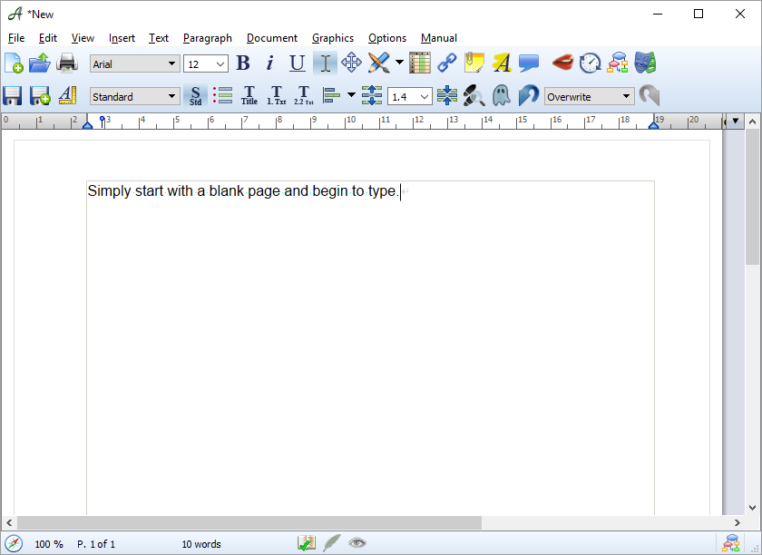 Starting With a Blank Page