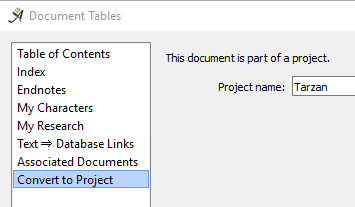 Project Associated Documents