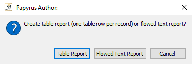 Create report message