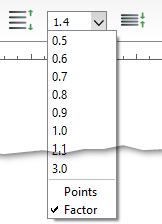Line spacing dropdown