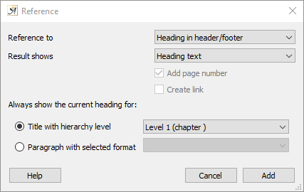 Master page reference dialog