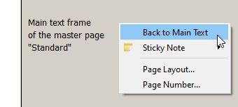 Master page context menu