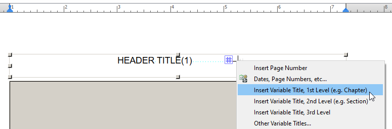 Adding a variable title to the master page