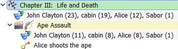 Navigator character statistics display