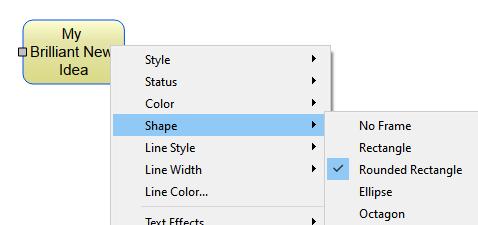 Thinkboard context menu