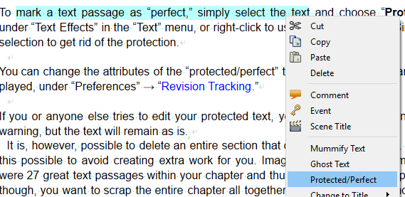 Protected Text