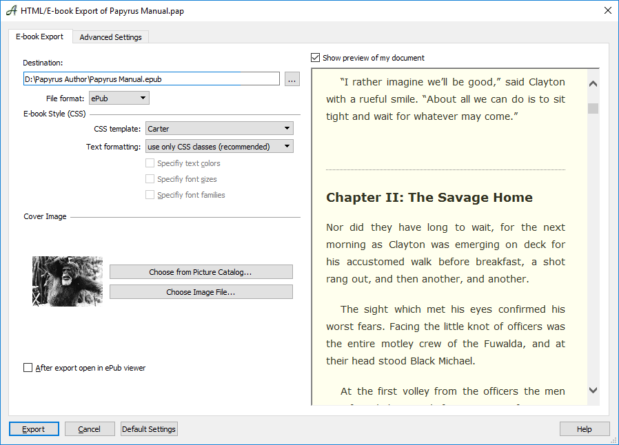 Creating E-Books With Papyrus Author