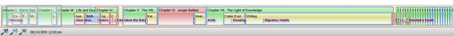 Timeline overview bar