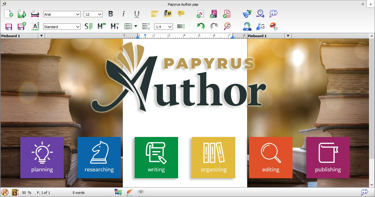 Papyrus Author · The Creative Writing Suite · For Windows and Mac.