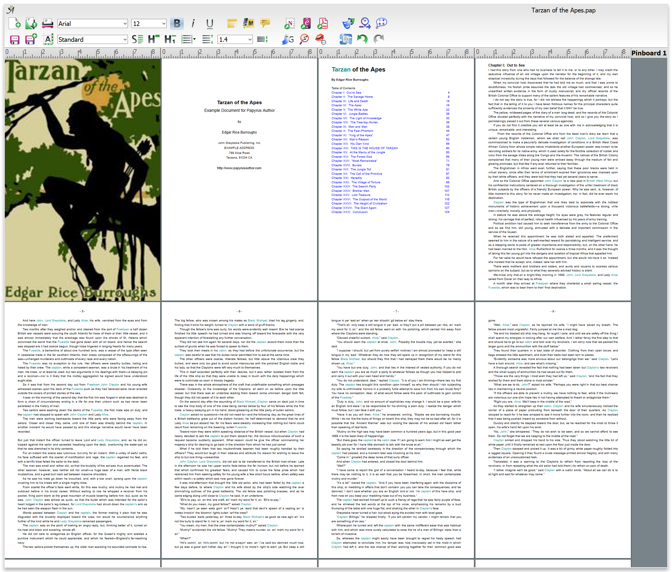 PDF Layout of a book in Papyrus Author
